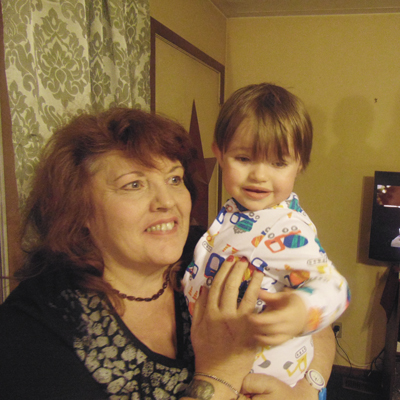 Cindy Smith with her grandson Morgan.