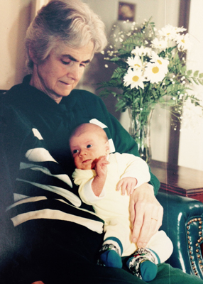 Helen Morris with grandson Michael
