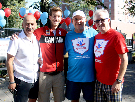 Paul and Barbara Kent with family members at Parkinson SuperWalk 2016.