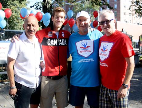 Paul and Barbara Kent with family members at Parkinson SuperWalk 2016.