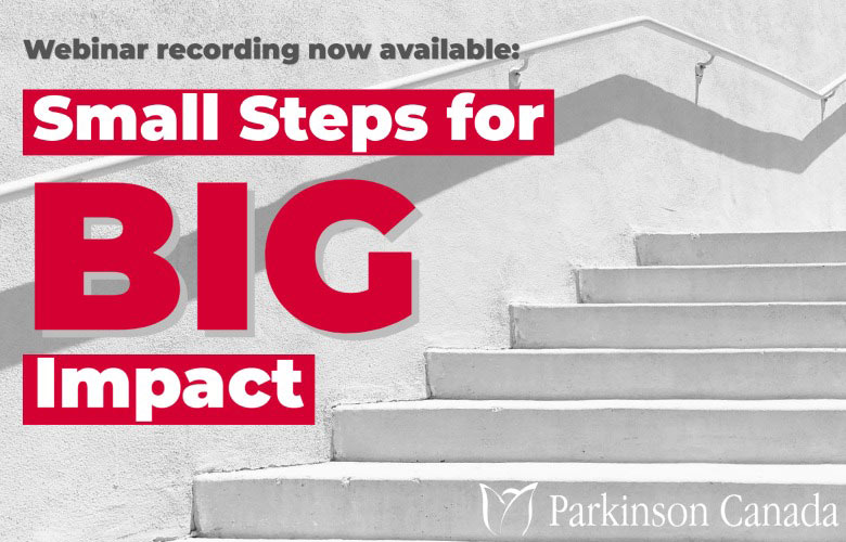 Small Steps for Big Impact webinar recording now available
