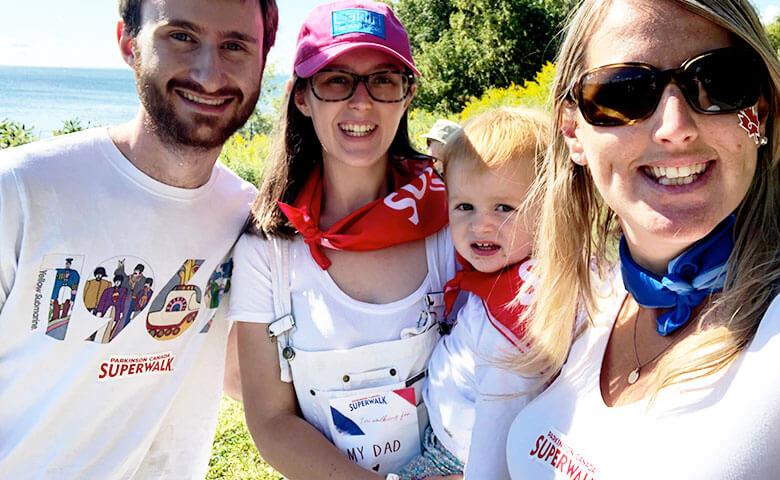 Family participating in Parkinson Canada Superwalk
